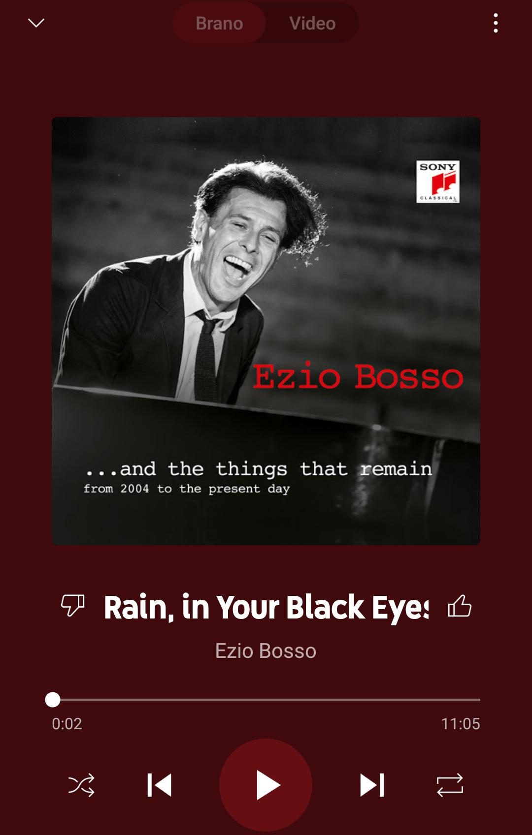 Rain, in your black eyes